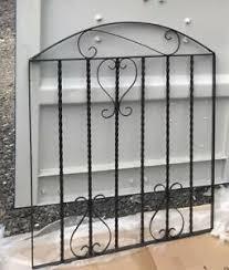 metal garden gate black wrought iron