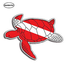 Hotmeini 13cm X 10 2cm For Sea Turtle Scuba Diving Down Sticker Diver Decal Dive Graphic Car Truck Flag Waterproof Car Sticker Car Stickers Aliexpress