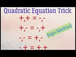 quadratic equation tricks you