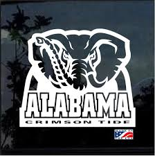 Alabama Crimson Tide Football Window Decal Sticker Custom Sticker Shop