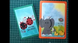 Como Hacer Tarjetas De Animales Scrapbook Diy Easy Animal Cards