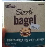 wawa sizzli turkey sausage egg white