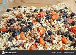 homemade granola oats nuts dried fruits