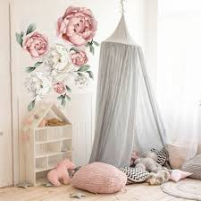 Peony Wall Decal Watercolor Peonies Wall Decals Flower Etsy