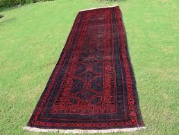 afghan tribal baluch runner rug size 3