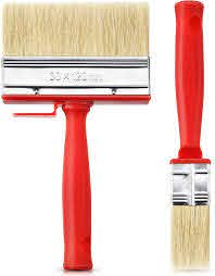2 Pieces Shed Fence Paint Brush Decking Timber Block Stain Brush 120 Mm Wide Red Amazon Co Uk Kitchen Home