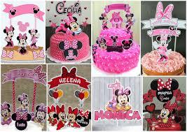Minnie Cumple 2 Anos Toppers Para Tartas Tortas Pasteles Bizcochos O Cakes Para Imprimir Gratis Oh My Bebe