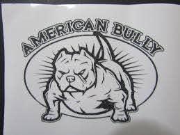 American Bully Car Window Decal American Bully Pitbull American Bully Pitbull Tattoo