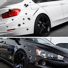 Buy 1pcs Car Stickers 3d Bullet Mimic Hole Funny Decal Car Covers Waterproof Stickers High Quality Trusted Automotive Car Spare Parts And Accessories Cool Gadgets Badges Logo From Benz Audi Bmw
