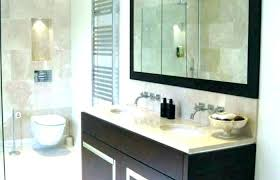 wall cabinet bathroom recessed mirrored