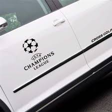 Kook Champions League Car Sticker Champions League Football Real Madrid Barcelona Manchester United Bayern Car Sticker