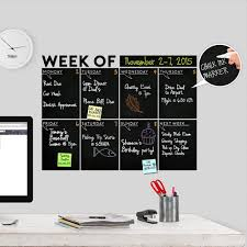 Amazon Com Modern 2019 Chalkboard Weekly Week Of Wall Decal Calendar A Todeco Product Office Products