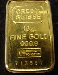 credit suisse 10g fine gold bullion bar