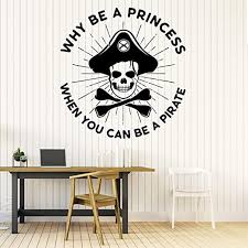 Amazon Com 22 X 23 In Pirate Wall Decals For Kids Rooms Pirate Wall Stickers For Kids Pirate Map Pirate Ship Wall Decor Kids Art Pirate Decorations For Kids Room