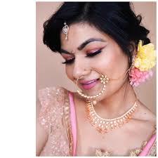 pink indian bridal makeup look