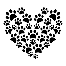 Oracal Heart Cat Dog Paw Prints Car Vinyl Sticker Decal Oracal 651 Black Red Removable