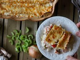 Lactose free seafood lasagna