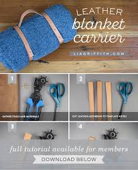make your own leather blanket carrier