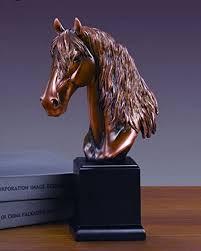 馬頭雕像青銅麵馬半身雕塑-家居-亞馬遜中國