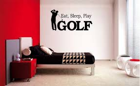 Eat Sleep Play Golf Boy Lettering Decal Wall Vinyl Decor Sticker Room Sports Wall Vinyl Decor Wall Decals For Bedroom Vinyl Decor