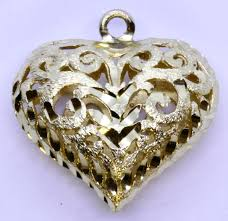 14k solid yellow gold diamond cut open