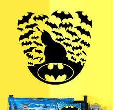 Decal Batman Silhouette With Bats Wall Decal 20 X 20 Walmart Com Walmart Com