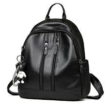 small backpack faux leather rucksack