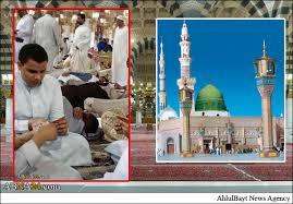 حرمتشکنی سعودیها در مسجد النبی(ص) با ورق بازی! + عکس - خبرگزاری ...