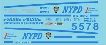 1 64 New York Police Department Jns Decals