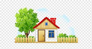 House Cartoon Drawing Cottage House Fence Fence Fencing Property Png Pngwing