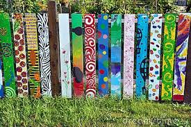 Painted Fence Panels Fence Art Diy Garden Fence Diy Fence