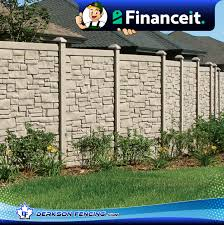 Simtek Simulated Stone Privacy Fence