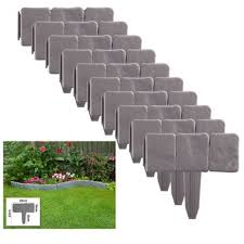 10 Pack Landscaping Lawn Plastic Fencing Cobble Stone Garden Border Fence Edging Plastic Stake Buy Garden Edging Garden Border Edging Plastic Plastic Garden Edging Product On Alibaba Com
