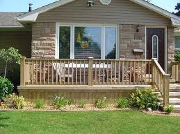 uncovered front porch deck like this