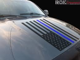 Thin Blue Line Us Flag Vinyl Decal Police Fits Dodge Ram Chevrolet Fo Roe Graphics And Apparel