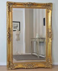 style rectangle wood wall mirror