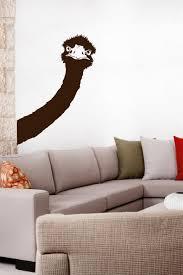 Silly Ostrich Peek A Boo Wall Decal 32 Colors Walltat Com