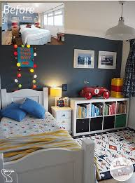 Kids Room Makeover In Blue And Red Transforming A Kid S Bedroom Using Key Pieces From Ikea The Rug Seller An In 2020 Bedroom Red Kids Bedroom Furniture Kid Room Decor