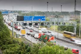 m6 southbound at walsall west midlands