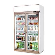 display glass door fridge freezer cabinet