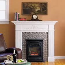 gas fireplace with a colonial style