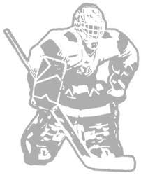 Hockey Goalie Sudden Shadows Giant Wall Decal