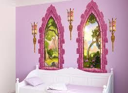 Pink Castle Window Wall Decal Set