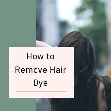 how to remove hair dye bellatory