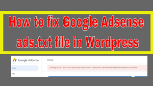 ads txt file notification in adsense