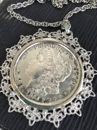 silver dollar necklace 1921 silver
