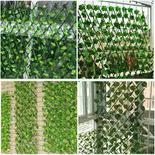 Expanding Artificial Green Wall Foldable Trellis Fence Climbing Plants Garden Ebay