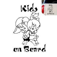 12 5 19cm Kids On Board Cute Cartoon Warning Car Sticker Window Decoration Vinyl Decal Wish