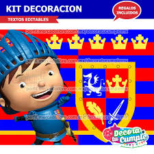 Kit Imprimible Mike El Caballero Decoracion Invitacion P244