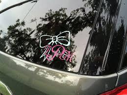 Custom Monogram Car Decal By Keydesignbykasey On Etsy So Freakin Cute Car Monogram Decal Custom Monogram Car Decals
